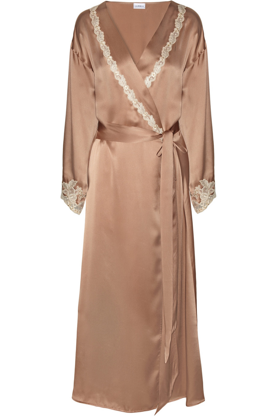 LA PERLA Maison silk-satin and lace robe