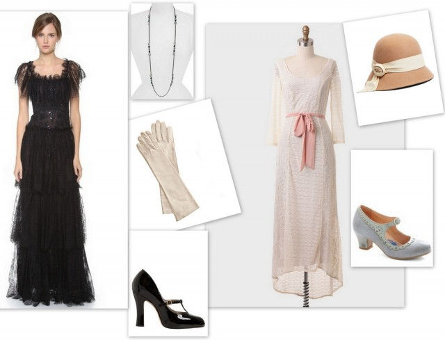 Downton Abbey Style Marchesa Marc Jacobs Givenchy edwardian fashion