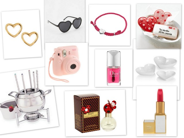 Valentine's Day Gift Guide Gift Ideas Treat Yourself Hearts Pink Red Beauty Jewelry