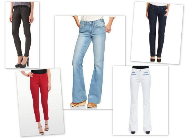 history of jeans, denim, red jeans, black jeans, skinny jeans, white jeans, women's jeans, pants, online shopping, gap, nydj, seven for all mankind, shopbop, flare