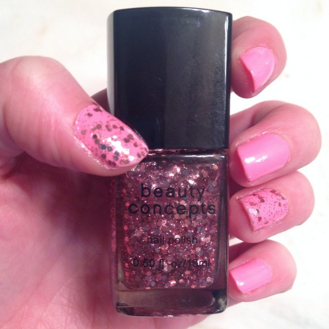 pink glitter nail polish nails of the day