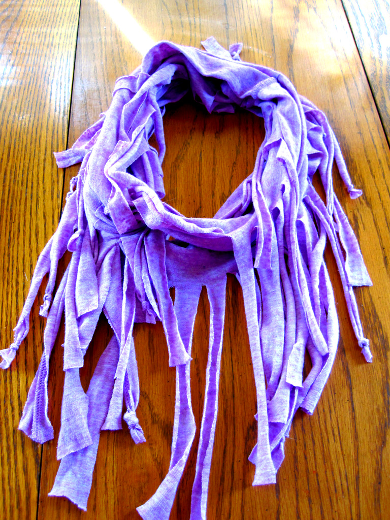 How to Make A Fringe Scarf Out of a T-shirt
