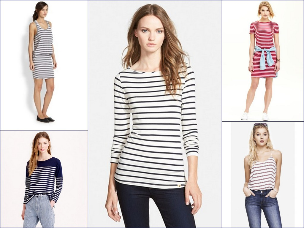 Stripes tops and dresses will get you in the mood for spring.