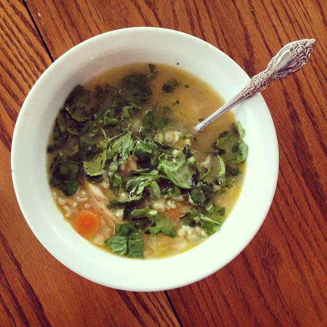 This Filipino Healing Soup from The Soup Club Cookbook is delicious!