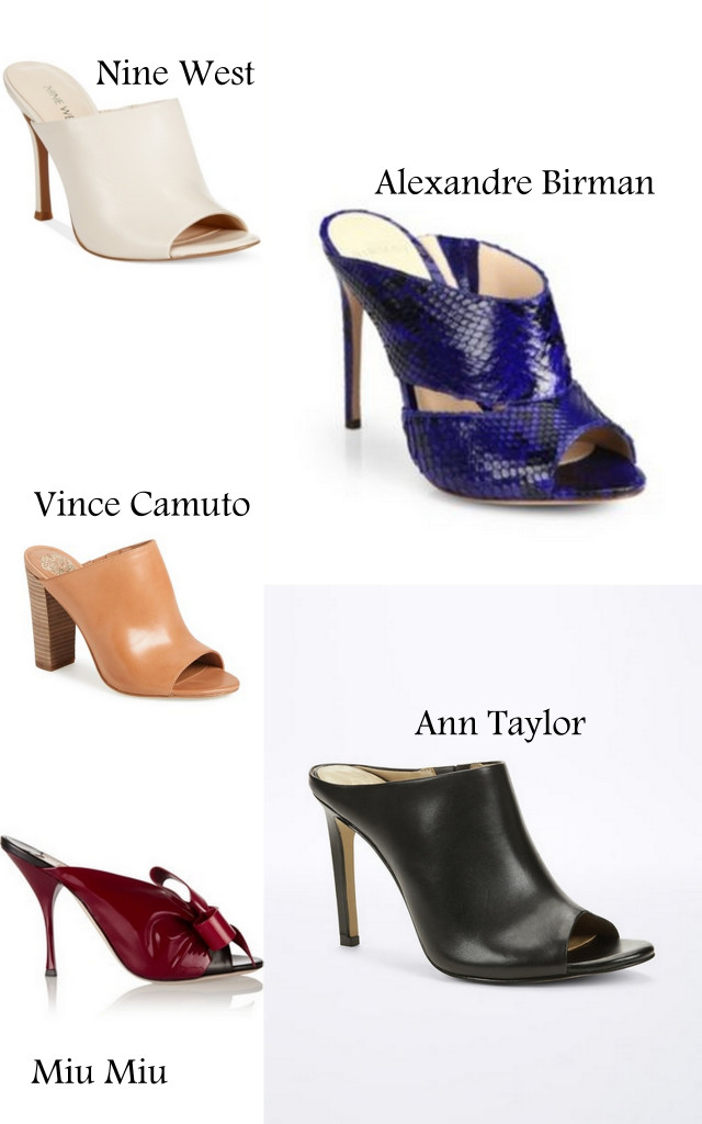 A round up of stylish mules to keep you well heeled this spring.