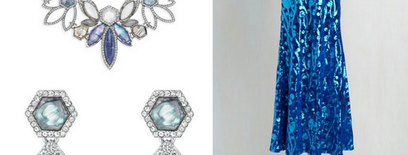 Sparkly jewelry and a glittery gown are a great way to channel Elsa at your next formal event.