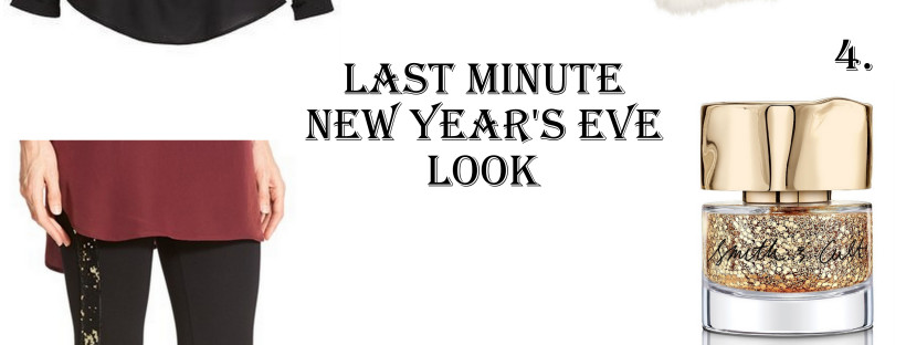 Need a last minute New Year's Eve look? Here's an outfit you can put together with items you probably already have in your closet.