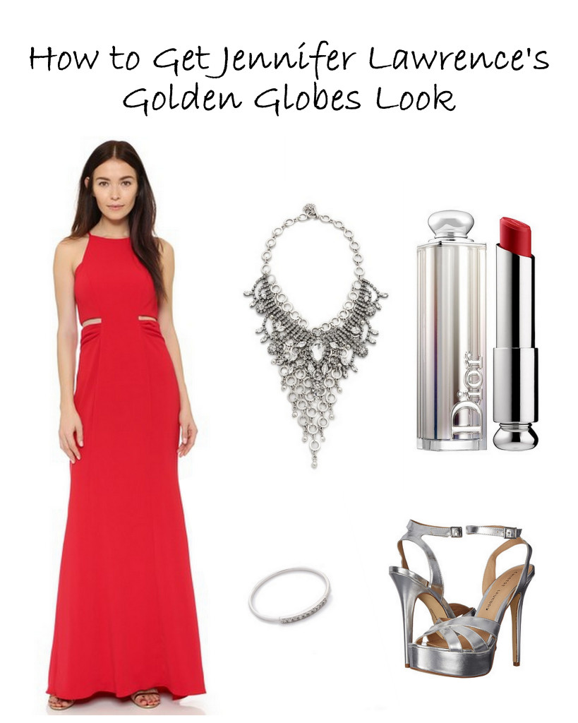 Love J.Law's style? Here's how to get Jennifer Lawrence's Golden Globes look!