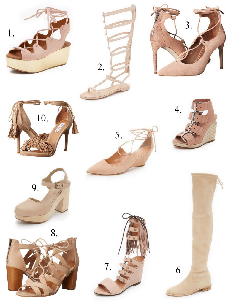 10 Must Have Blush Shoes Happy Pretty Sweet