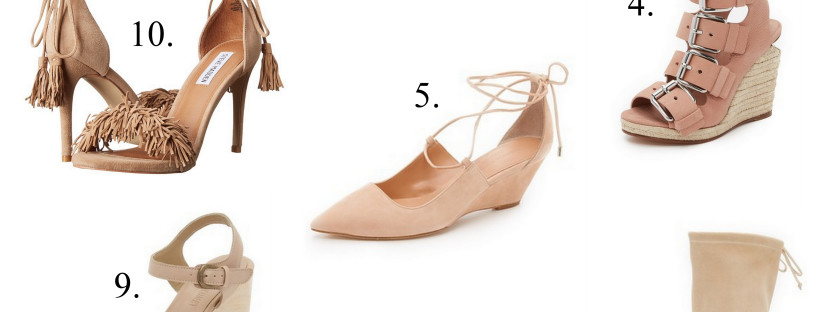 Whether platform, flat, or wedge, there's a blush shoes for almost every occasion.