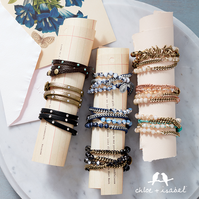 Find beautiful bracelets at my Chloe + Isabel boutique!