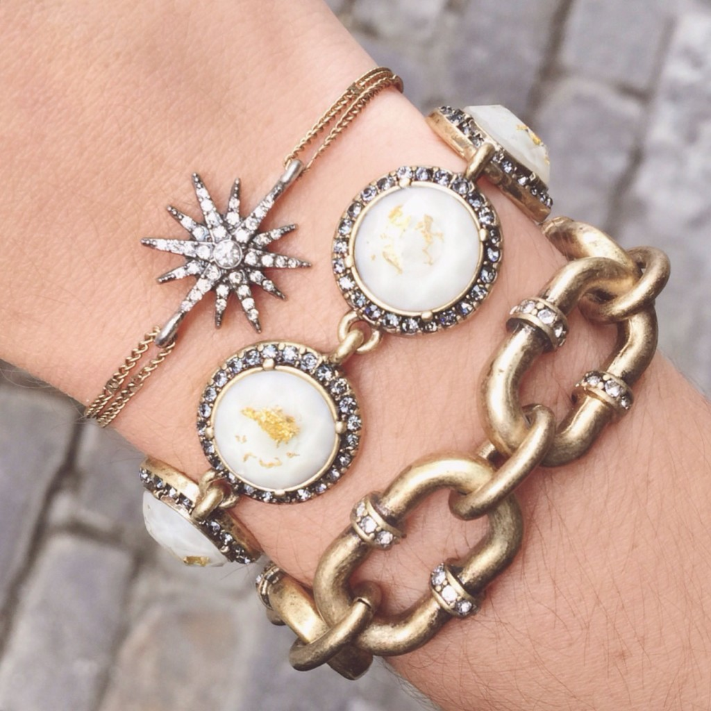 From statement to chic to monochrome, here are 3 ways to style an arm party, featuring beautiful bracelets from Chloe + Isabel!