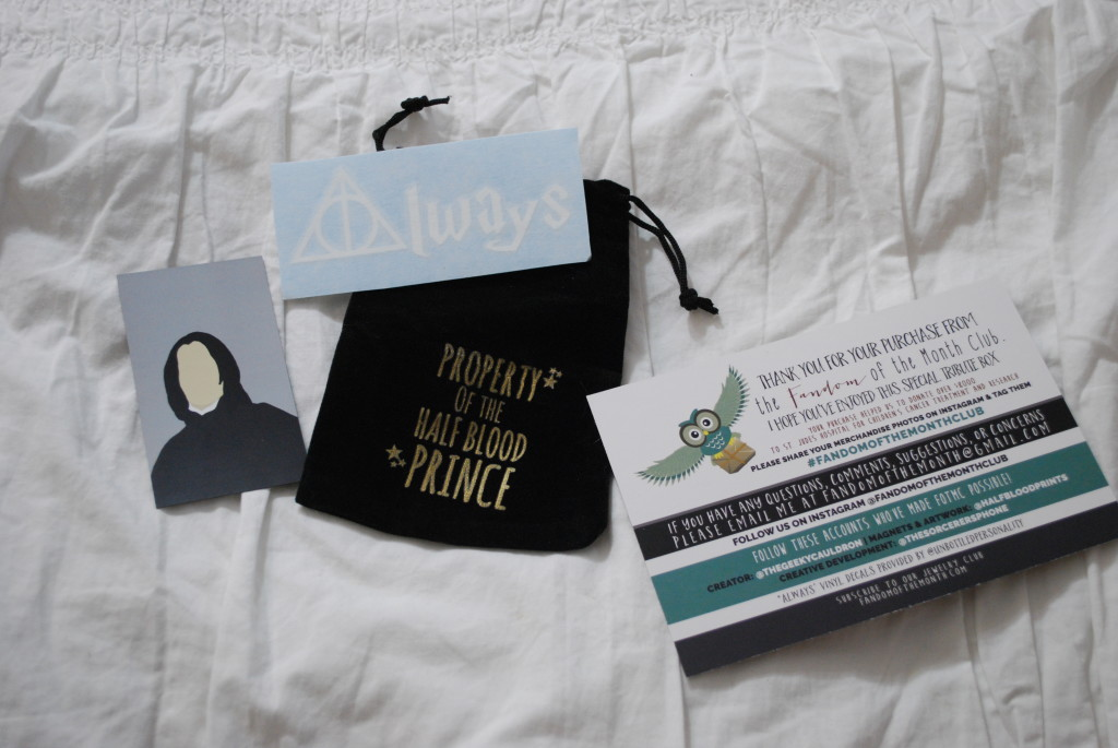 See what's inside the Fandom of the Month Club Snape Tribute box!