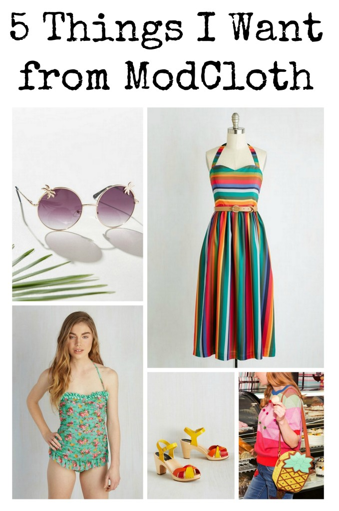 From a striped sundress to the cutest swimsuit, here are 5 things I want from ModCloth to get me ready for summer.