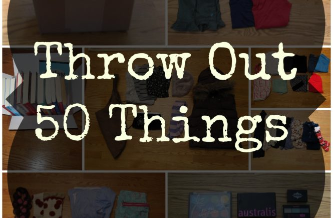 Clean out your closet, clean out your life by following Gail Blanke's book, Throw Out Fifty Things: Clear the Clutter, Find Your Life.