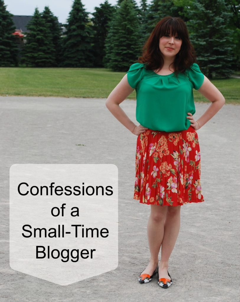 Sharing my thoughts on why I'm a small-time blogger and why I think that's okay.
