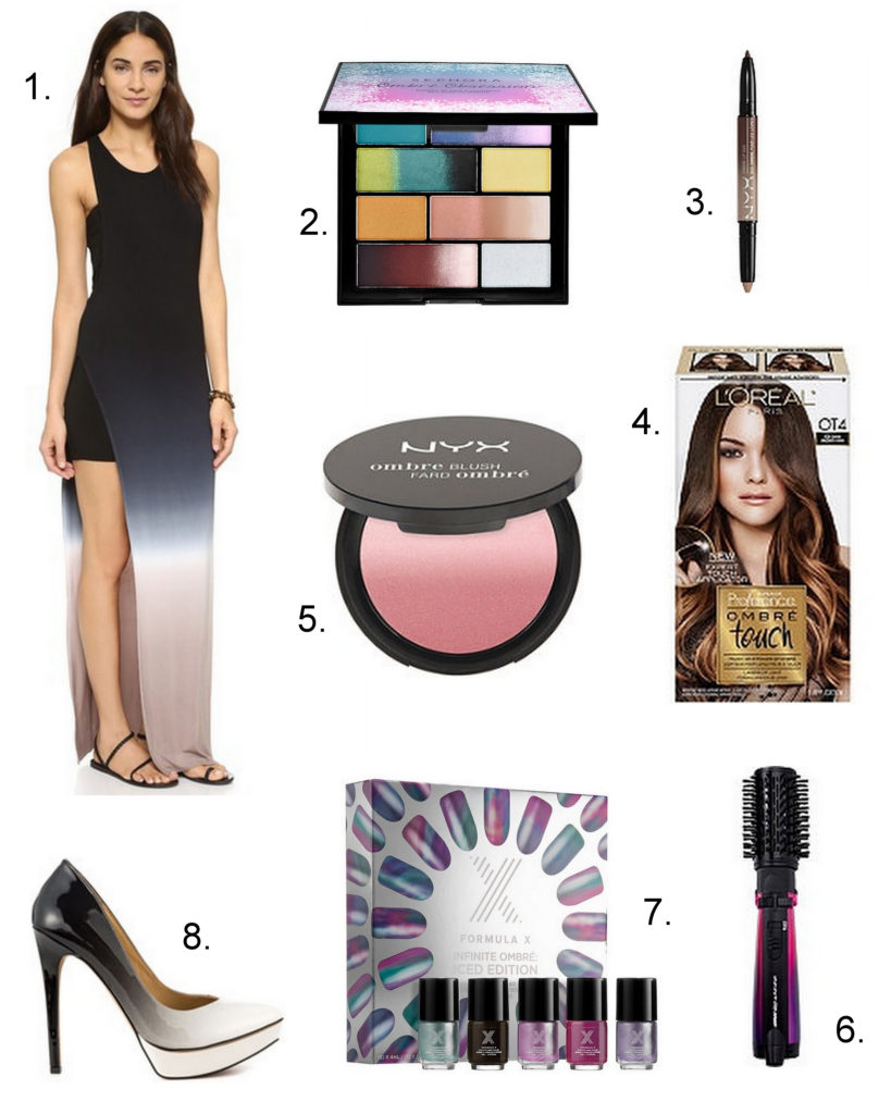 Paint the town ombre with an ombre dress and makeup that are perfect for summer.
