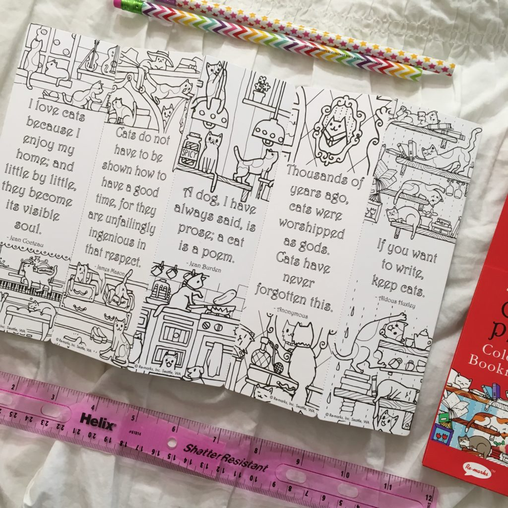 This snail mail Saturday I'm showing off my Creatives Box Swap package from Mrs. AOK! How fun are these cat bookmarks?