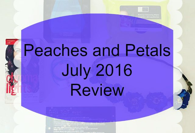 This is my 5th Peaches and Petals review, and I have some mixed feelings about the July box. It's full of fun festival goodies, but something is missing...