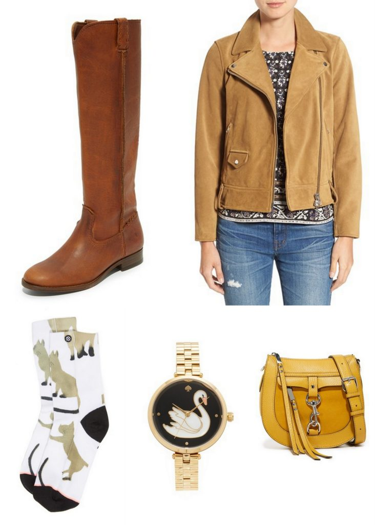 From a suede moto jacket to leather riding boots, here are 5 fall ready pieces I want from one of my favorite stores, Shopbop.