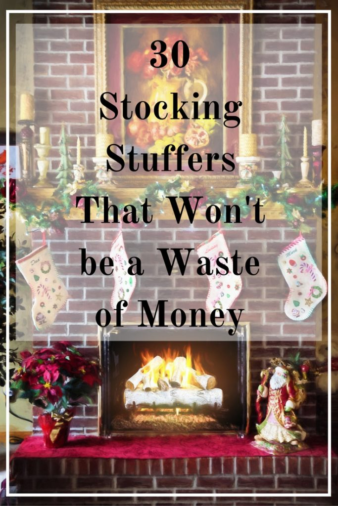 Gift your loved ones stockings full of things they will actually use. Here are 30 stocking stuffers ideas that won't be a waste of money!