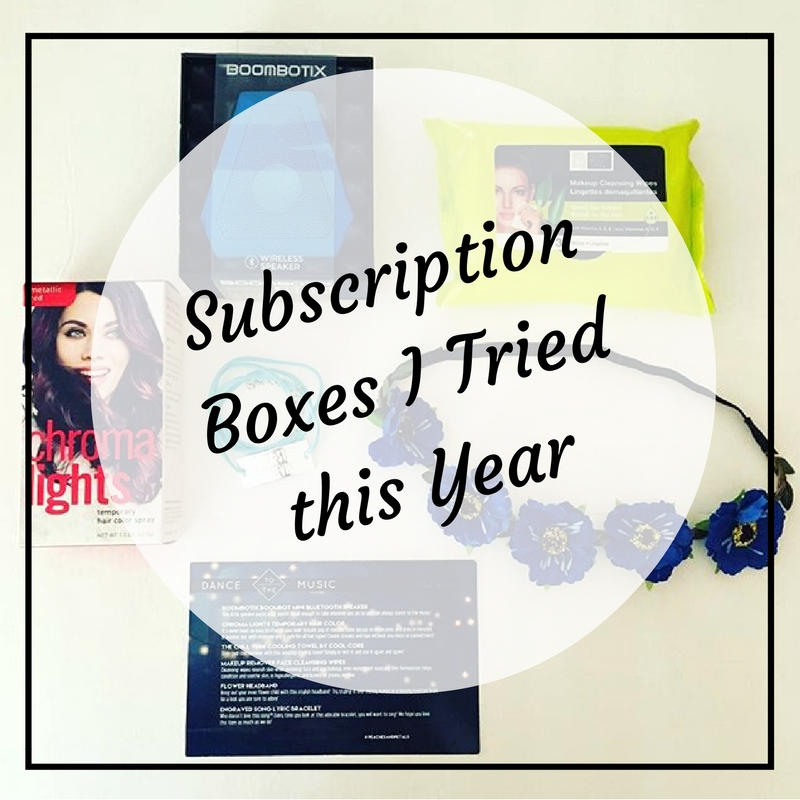 From books to beauty to style, here's a look at the subscription boxes I tried this year including Fabletics, Stitch Fix, and Le Tote!