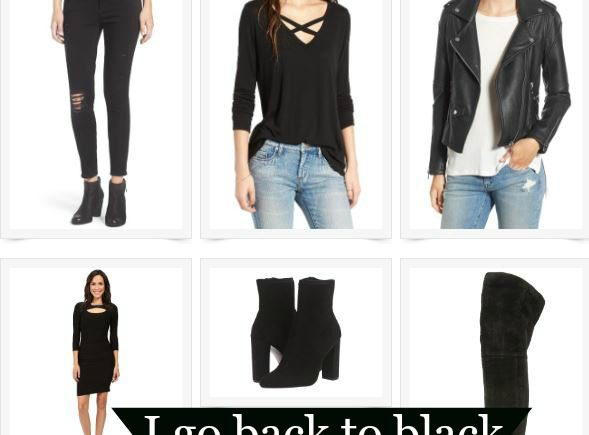 As much as I love bright colors, I go back to black. It makes even basic pieces look edgy while making trendy pieces look chic.