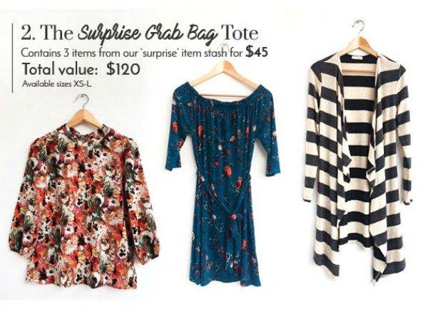 I received three stylish surprises in my Golden Tote Surprise Grab Bag. See what I got as well as my thoughts on this monthly clothing service.