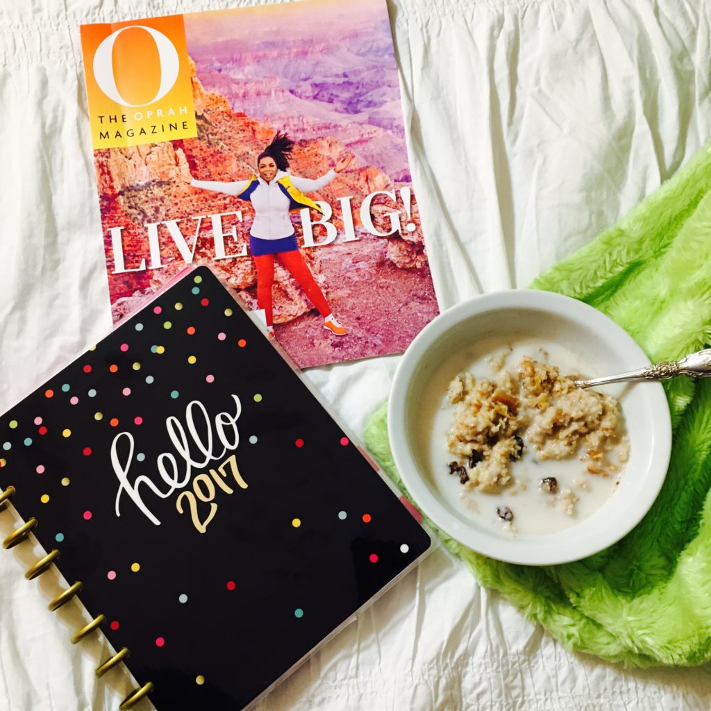 Oprah's declaring 2017 her year of adventure! Here's how I'm going to make my life more adventurous. Plus, I'm sharing my oatmeal cookie oatmeal recipe!