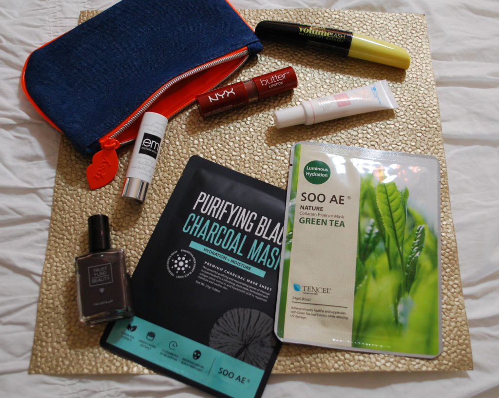 A brick red lipstick and two different types of face masks are just a few of the makeup and beauty products in my February 2017 Ipsy Glam bag.