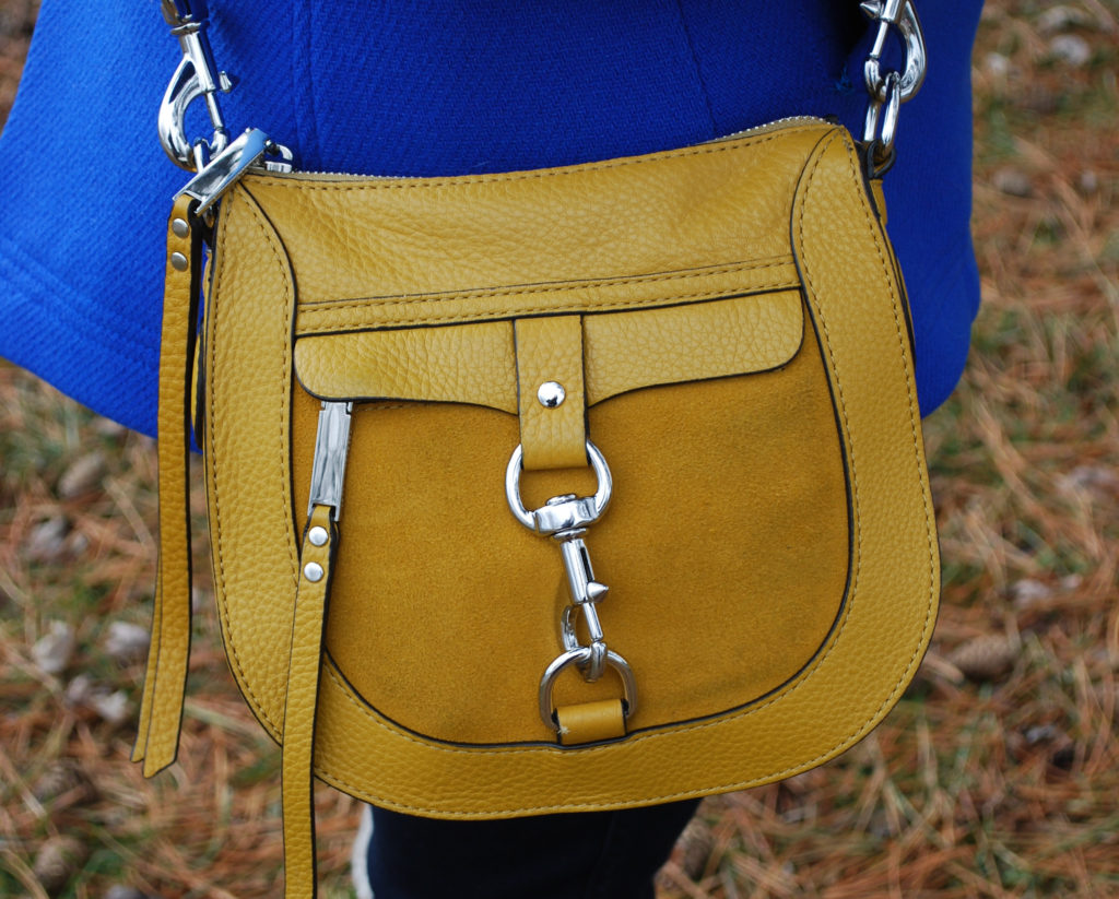 I'm constantly reaching for my pea coat and saddle bag, which just happen to be in my college's colors. Let's hear it for maize and blue!