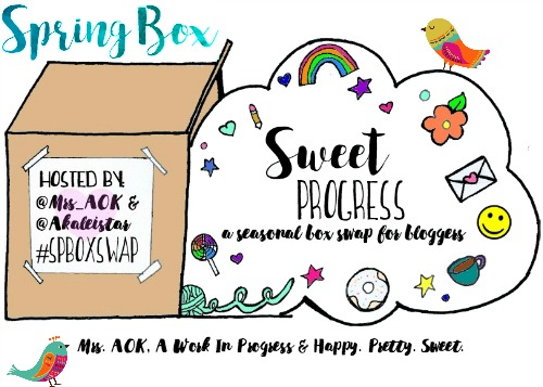 Treat yourself to some happy mail this spring and connect with a new friend through the Sweet Progress Spring Box Swap! #SPBoxSwap
