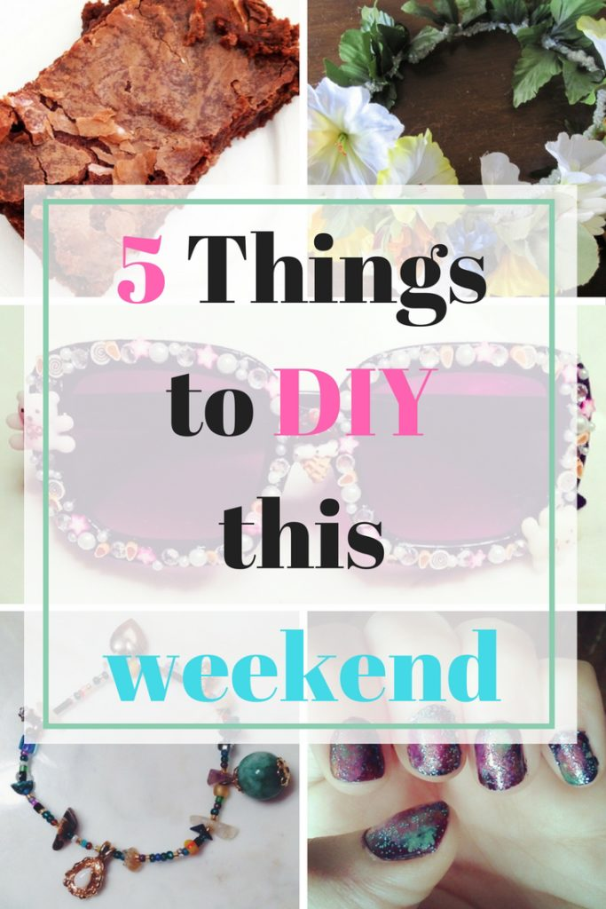 If you are looking for a creative project that can easily be finished over the weekend, I've rounded up 5 things to DIY this weekend!