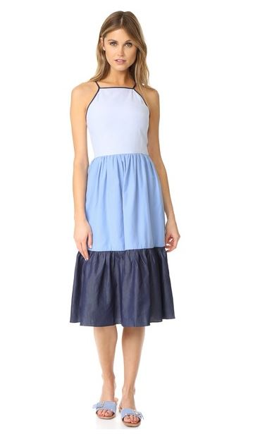 Embrace summer with this darling colorblock dress  from English Factory.