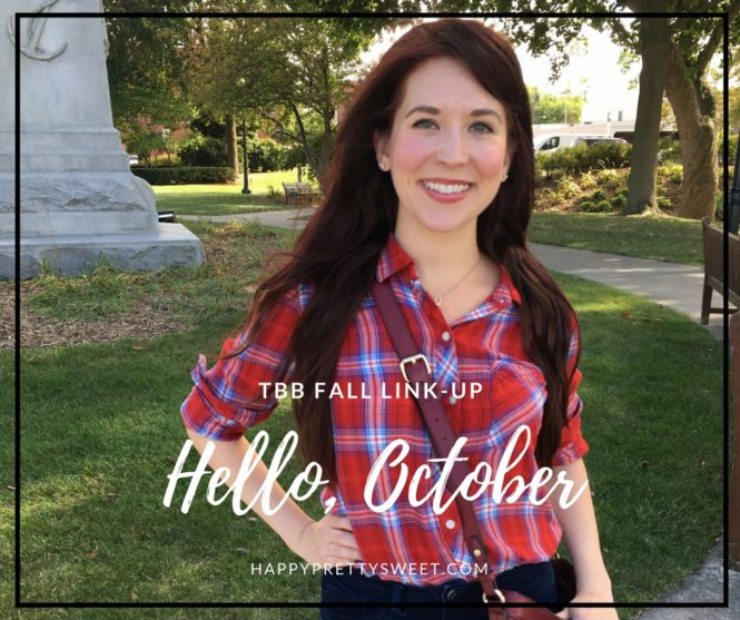 Hello, October. I didn't expect to see you so soon, but since you're here, let's chat. Today, I'm linking up with The Blended Blog.