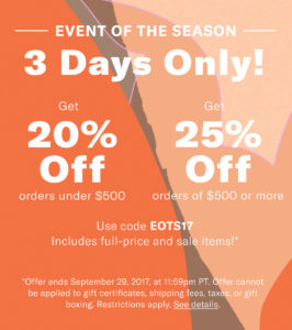 Huge Shopbop Sale happening right now! Don't miss this Shopbop promo code!