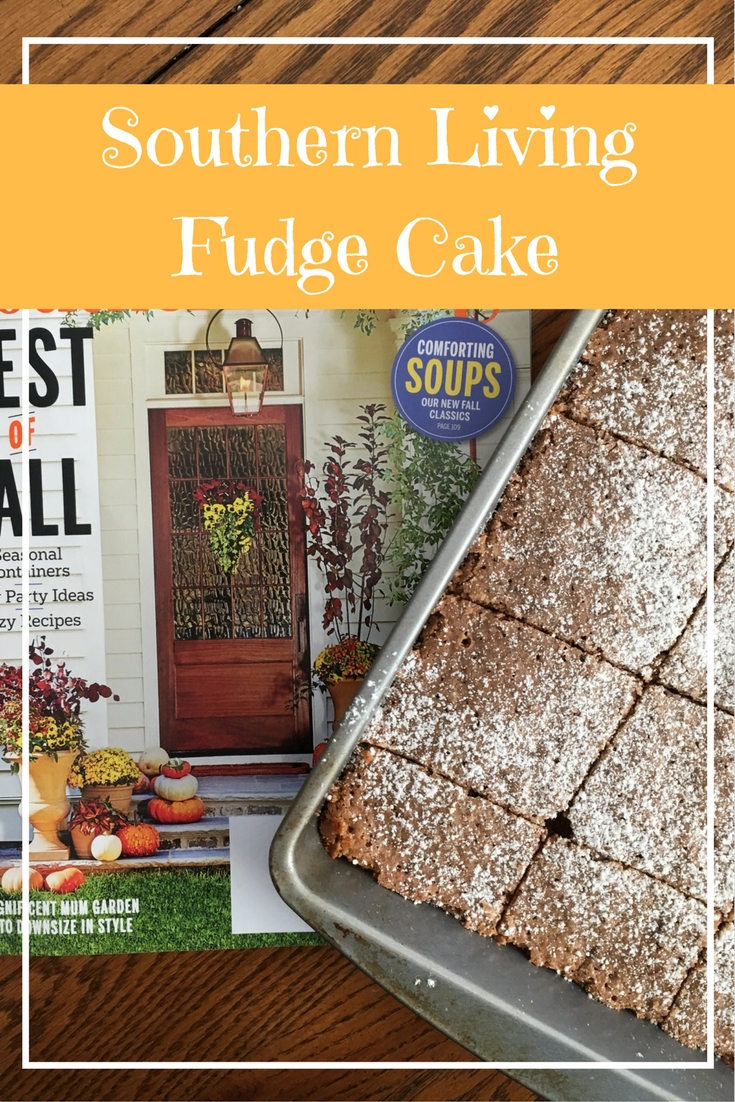 This month, I had to bake this Fudge Cake fromElizabeth Heiskell's cookbookWhat Can I Bring? It's delicious and so easy to make!