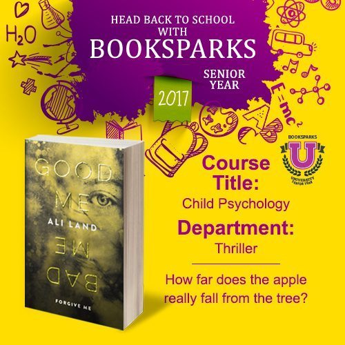 Fall's crisp nights call for suspense, and Good Me Bad Me from Booksparks reading challenge is just the right sort of book to read around Halloween.