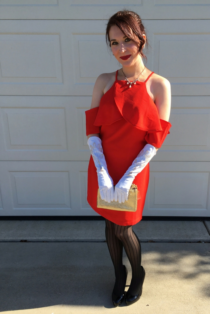 Need a last minute Halloween costume? Grab a red cocktail dress and long white gloves and start channeling your inner Julia Roberts in Pretty Woman.