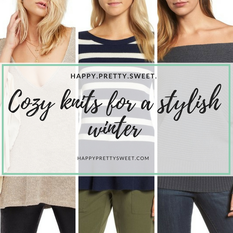 Staying cozy doesn't mean saying no to style. Stores like Nordstrom and Shopbop are filled with cozy knits that will keep you warm while looking trendy. Here are a few of my favorites...