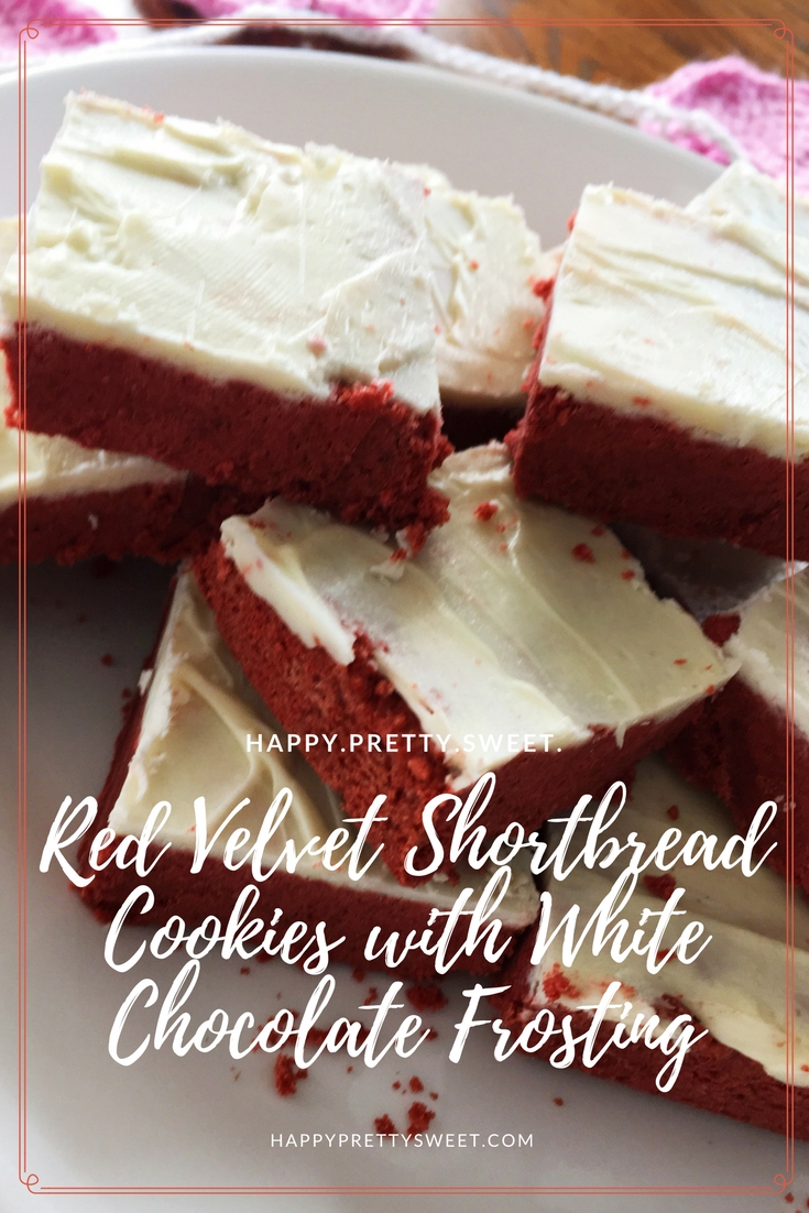 I love red velvet, and Valentine's Day is the perfect excuse for treating yourself to some red velvet deliciousness. These Red Velvet Shortbread Cookies with White Chocolate Frosting are so easy to make but nobody will know that because these cookies look so fancy.