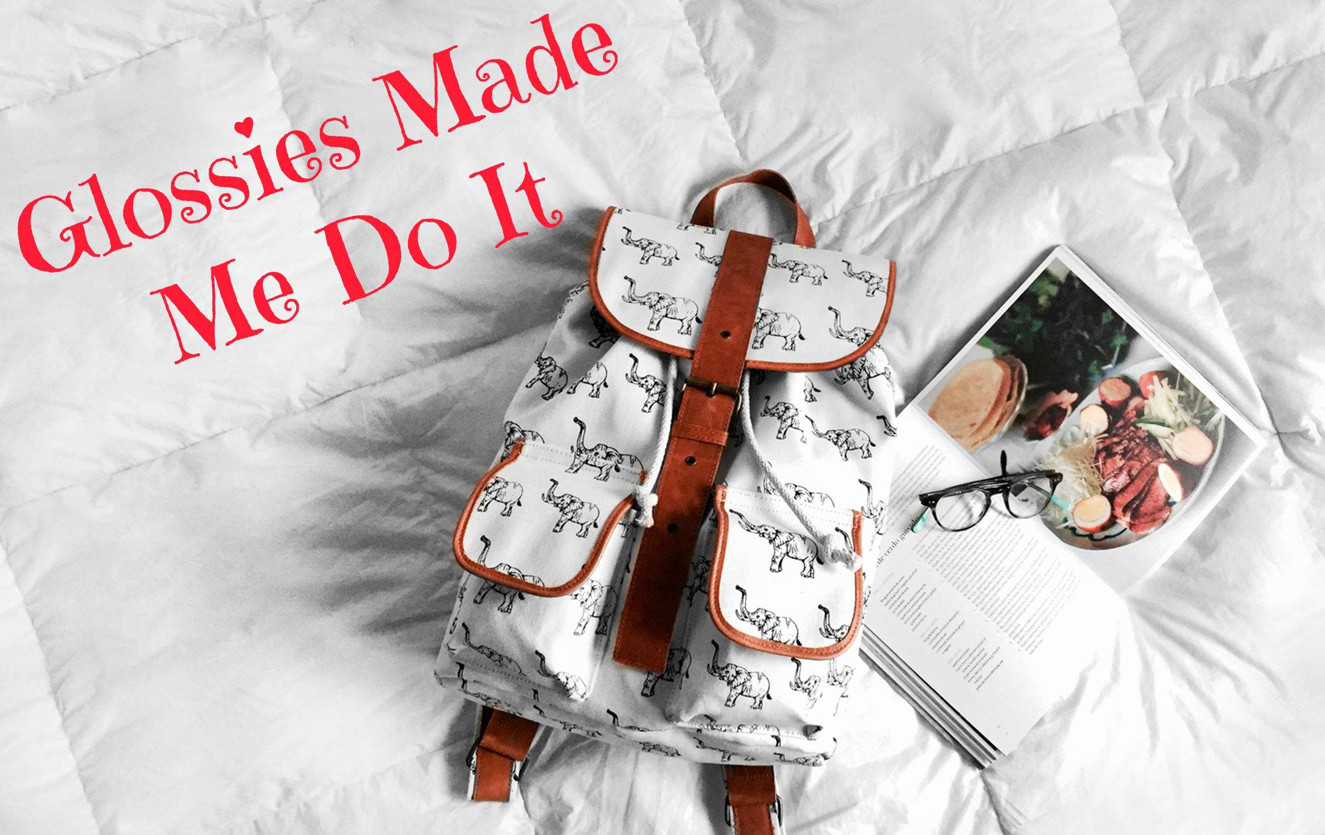 Glossies Made Me Do It, a monthly series I am co-hosting withLauren of Shooting Stars Mag!We are sharing our favorite magazines and what we learned from them. Books, beauty, food, you name it – it's all fair game in our series.
