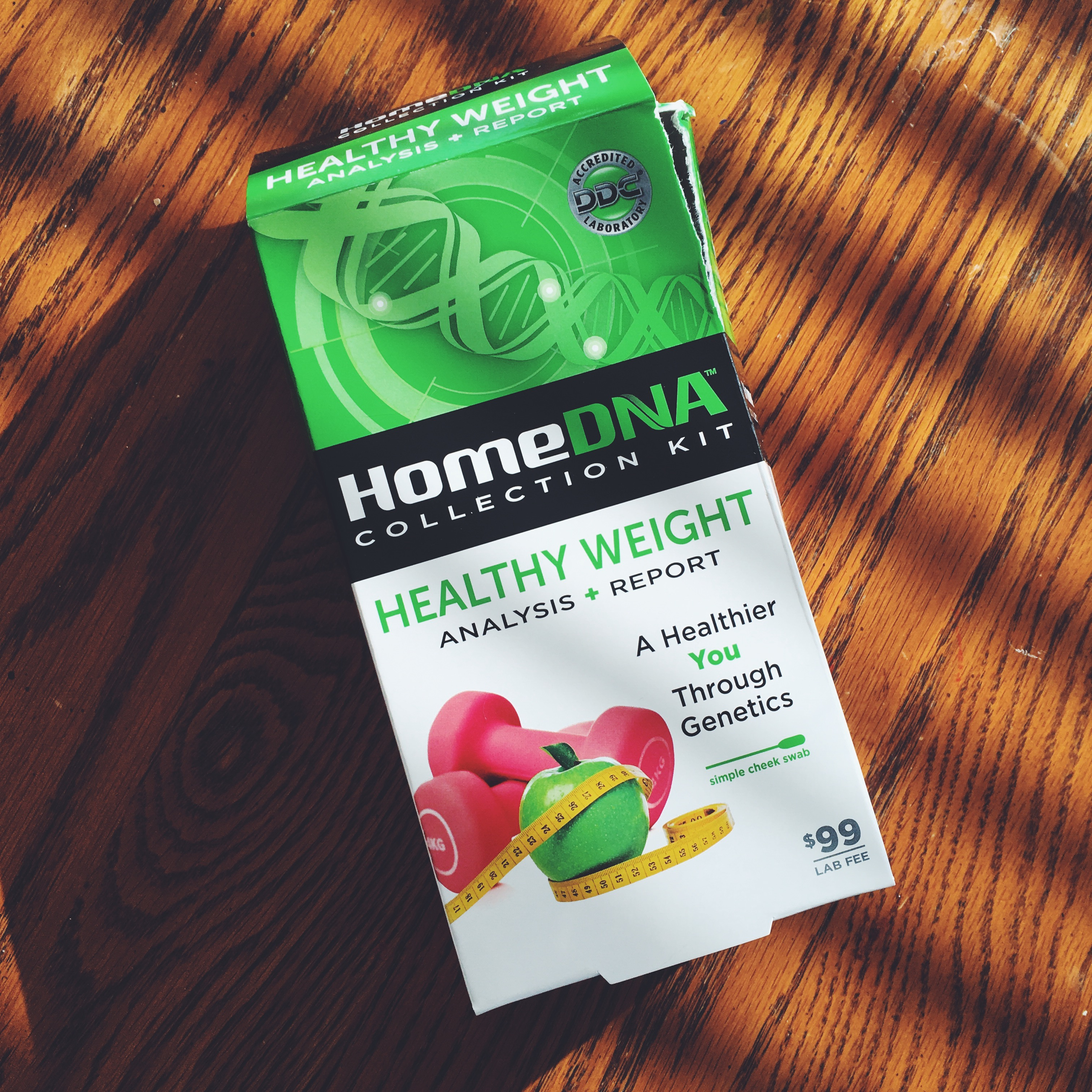 In search of a healthier life, I tried the HomeDNA Healthy Weight kit, which was sent for review, and am fascinated by my personalized report, which includes a custom diet and exercise plan.