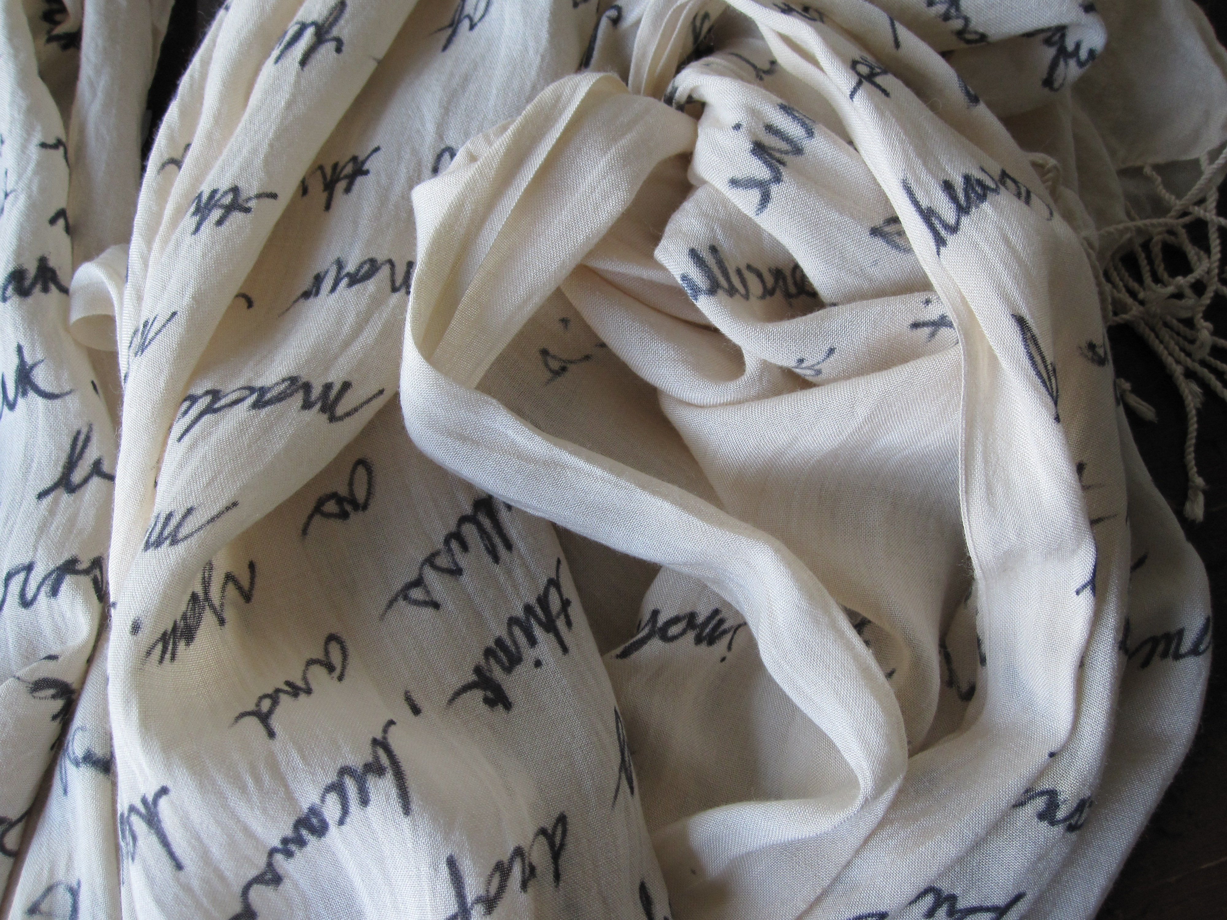 Today, I'm linking up withThe Blended Blogfor TBB Asks. This month's theme is All About Love, and I'm sharing my answers to these Valentine's Day inspired questions. Plus, I'm sharing a few love inspired DIY projects, too, like this literary quote scarf.