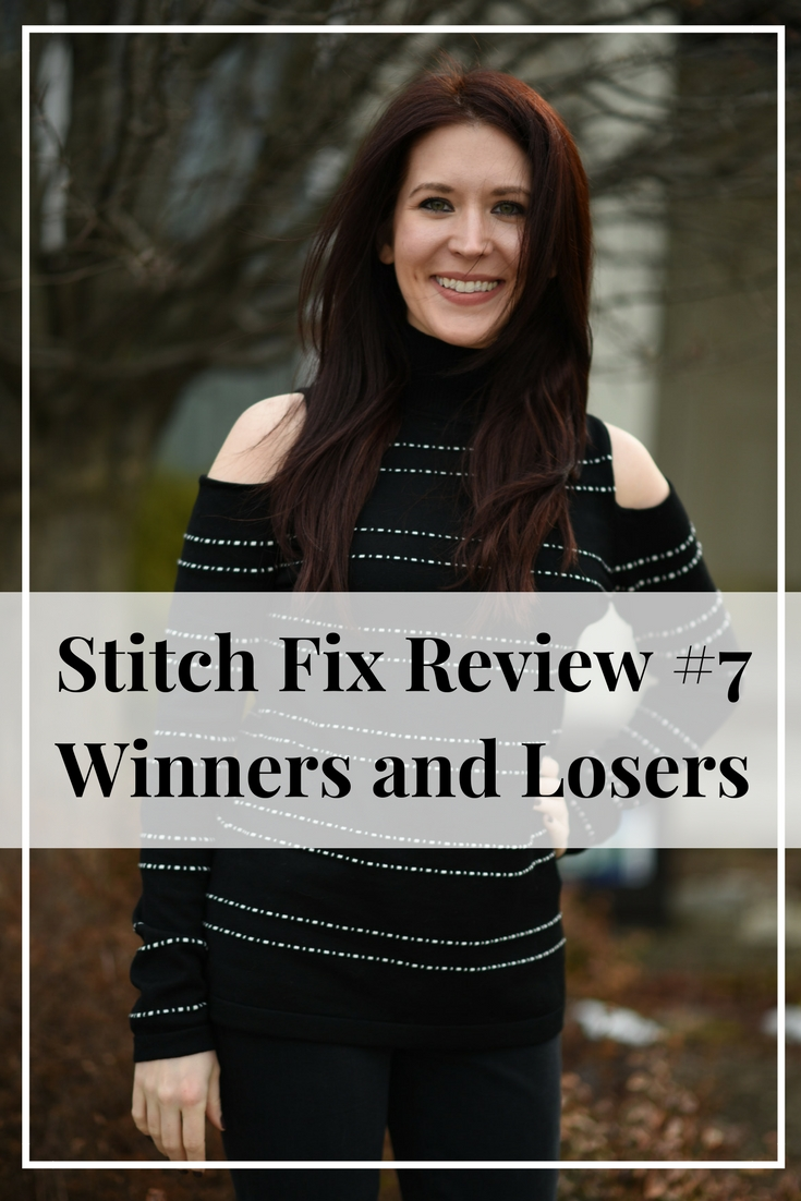 This week Stitch Fix #7 was delivered to my doorstep. Inside were five stylish pieces, including a faux fur coat, skinny jeans, and three different style tops. Not everything was a winner, so read on to see what I liked and what I didn't.