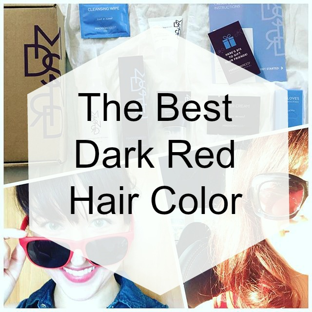 The Best Dark Red Hair Color Happy Pretty Sweet